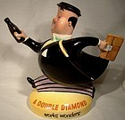 Beswick DOUBLE DIAMOND RUNNING MAN 1517 ADV. PITCHER