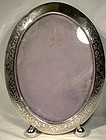 EDWARDIAN STERLING SILVER STANDUP PICTURE FRAME