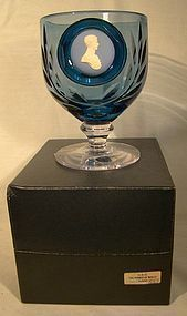WEDGWOOD PRINCE CHARLES CAMEO GOBLET in BOX #837