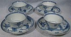 Set of 4 QIANLONG TEA BOWLS & SAUCERS