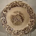 Scarce 19thC F.T. THOMAS CANADIAN PATTERN PLATE