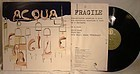 ACQUA FRAGILE - S/T PROGRESSIVE LP ALBUM Poster Cover