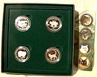 1999 CATS OF CANADA BOXED STERLING Proof COINS SET