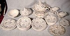 CHILD'S or DOLL IRONSTONE DINNER SET c1860 - 35 Pcs.