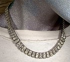 Industrial ART DECO RHINESTONE NECKLACE c1930