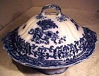 Charles Meigh FLOW BLUE COVERED ENTREE DISH c1860