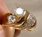 Stunning 14K DIAMONDS RING with APPRAISAL