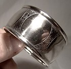 Roden Birks Engraved Sterling Silver Napkin Ring 1910