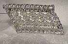 Kramer of NY Asymmetrical White Rhinestone Pin or Brooch 1950s