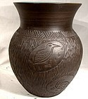 Kanyengeh Six Nations Pottery Large Vase - Signed Dee 1977