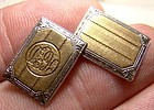 Art Deco 14K and Platinum Cufflinks 1920 Era
