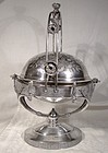 Victorian Silver Plate Rolltop Butter Dish or Server 1880s - Aesthetic