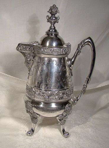 Victorian Aesthetic SP Hot Water Pot - Reed & Barton 1876