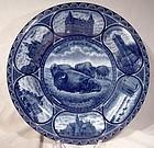 Rowland & Marsellus Winnipeg Manitoba Flow Blue Souvenir Plate 1900