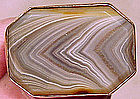 9K SCOTTISH BANDED AGATE BROOCH c1880s