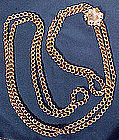 Regency 15K LOOP CHAIN NECKLACE & LARGE SLIDE c1820-40