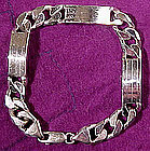 Heavy STERLING LINK & BAND BRACELET 37.9 gr
