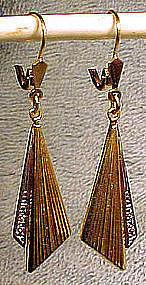 14K DRAPE EARRINGS with DIAMONDS