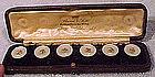 Edwardian 15K MOP BUTTON SET in BOX c1900-10