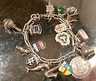 Vintage DUTCH STERLING CHARM BRACELET 17 CHARMS