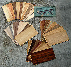 37 Pc. Vintage EXOTIC WOOD VENEERS