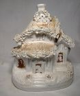 19thC English STAFFORDSHIRE COTTAGE c1850-60