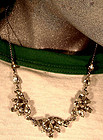 ANTHONY STERLING RHINESTONE NECKLACE c1950s