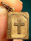 Vintage10K FORSTNER BIBLE CHARM PENDANT