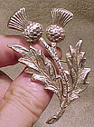 Large STERLING SILVER THISTLE PIN