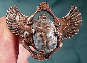 Vintage ART DECO SP SCARAB PIN c1920s