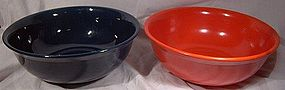 "9"" MEDICINE HAT POTTERY MIXING BOWLS"