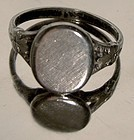 Art Deco STERLING SIGNET RING c1930s No Monogram