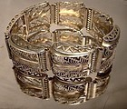 UTIKA SILVER GILT STERLING FILIGREE BRACELET