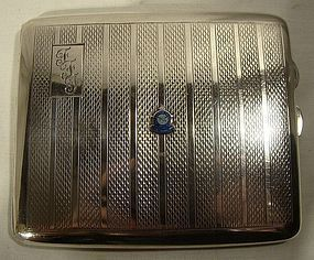 Sterling CIGARETTE CASE with RCAF ENAMEL CREST 1937