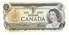 CANADA 1973 One Dollar REPLACEMENT NOTE - Scarce GU Prefix UNC