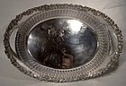ELLIS-BARKER SILVER PLATED BREAD or ROLL TRAY c1912