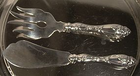 Miettinen Nurmi FINLAND STERLING FISH SERVING SET 1959
