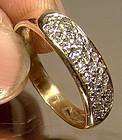 Elegant 14K PAVE DIAMONDS RING - Great Flash