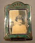 Rose GP ENAMEL MINIATURE STANDUP PICTURE FRAME c1920