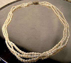 TRIPLE STRAND BAROQUE PEARLS NECKLACE with STERL CLASP