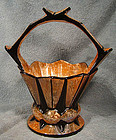ART DECO CZECH ART POTTERY BASKET c1920s Ditmar Urbach