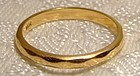 14K Yellow Gold Wedding Band c1930s-40s