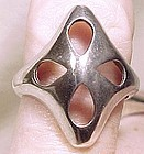 Hermann Siersbol DANISH MODERN STERLING RING c1970