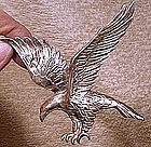 Large SP FLYING EAGLE COAT PIN c1930s