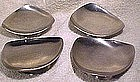 Set of 4 DANISH MODERN STAINLESS MINT DISHES c1960s