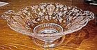 "Elegant Glass ROSEPOINT 7"" KEYHOLE LOW COMPORT"