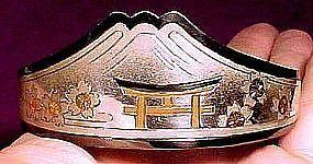 JAPANESE STERLING & GOLD INLAY BANGLE