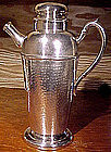 Deco HAMMERED SILVER PLATED COCKTAIL SHAKER c1930