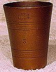 19thC W.R. LOFTUS, LONDON BRONZE CUP MEASURE