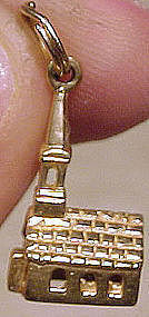 Vintage 10K SOLID GOLD CHURCH CHARM